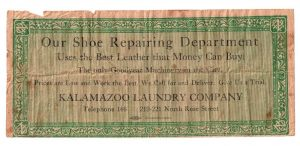 confederate money with advertising